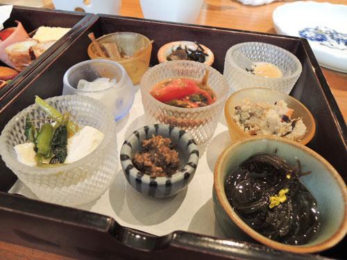 やさい家めいの宝菜箱弁当の1段目