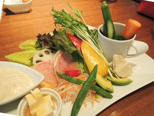 Mancy's Tokyo(マンシーズ東京)のサラダランチ、野菜アップ