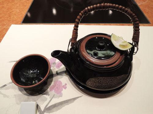 梅の花、京の梅ランチ 松茸の土瓶蒸し