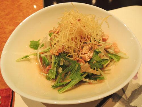 梅の花、京の梅ランチ 豆腐サラダ