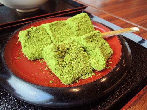 京甘味 文の助茶屋、抹茶わらびもち